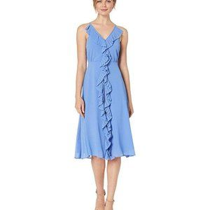 Vince Camuto Sleeveless Ruffle MIDI Dress
